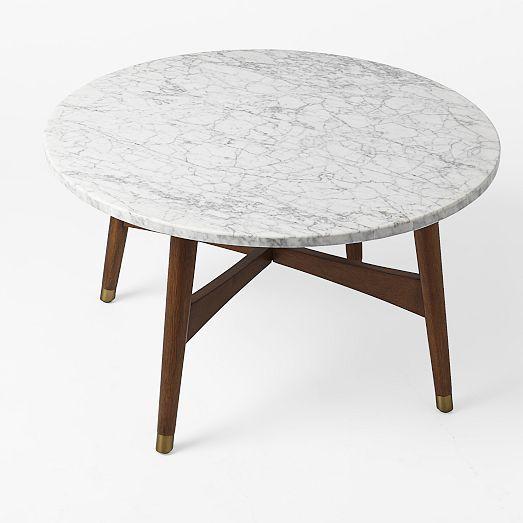 Reeve Mid-Century Coffee Table - Marble/Walnut | west elm - 23 Best Images About West Elm Coffee Tables On Pinterest Oval