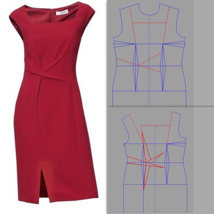 Draped dress, pattern instructions: