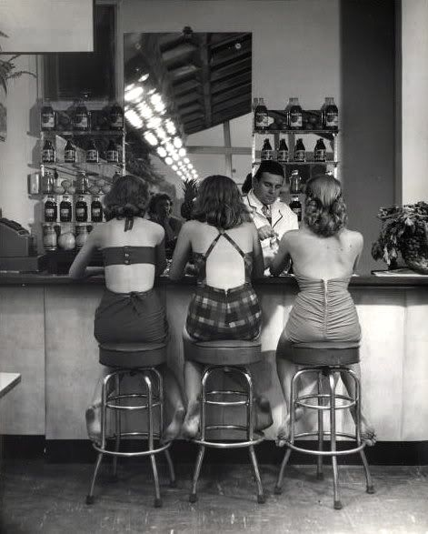 Vintage Soda Fountain.  Photo: Nina Leen