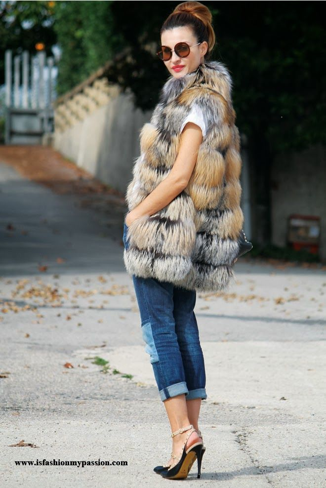 Fur Vest by Vladimiro Gioia