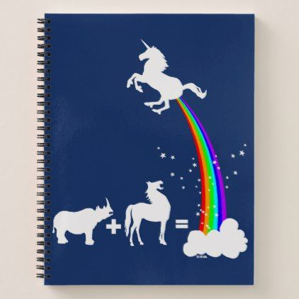 Unicorn origin notebook - funny unicorn unique lol customize unicorns fun