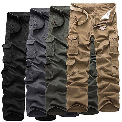 カーゴパンツ メンズ 作業着 ワークパンツ ロングパンツ 無地 春 夏 大きいサイズ カジュアル ゆったり チノパンツ ベルト付き