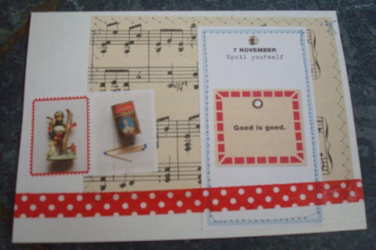 oud muziekpapier en Flow scheurkalender.