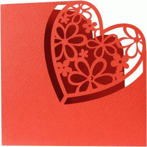Silhouette Design Store - View Design #54402: heart card
