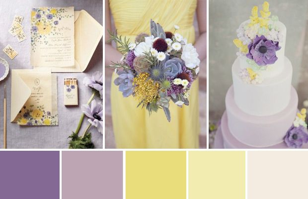 Pairing soft mellow yellow and pretty shades of purple, today we have dreamt up the perfect Lilac, Lavender and Lemon Wedding Colour Palette for your big day.