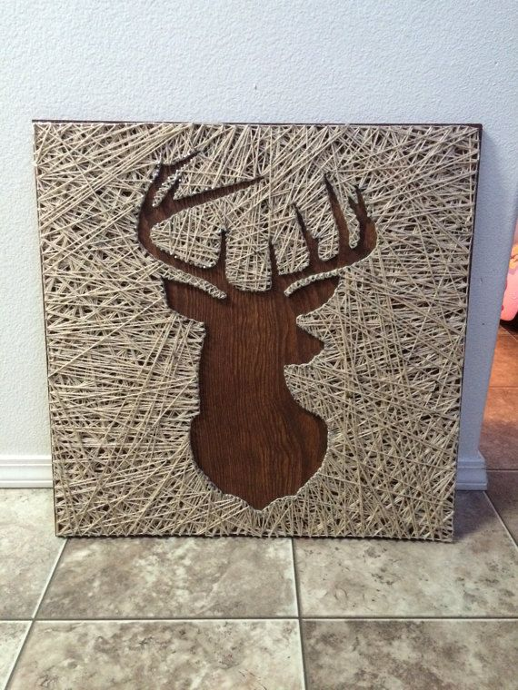 Deer Head String Art by Kstart123 on Etsy
