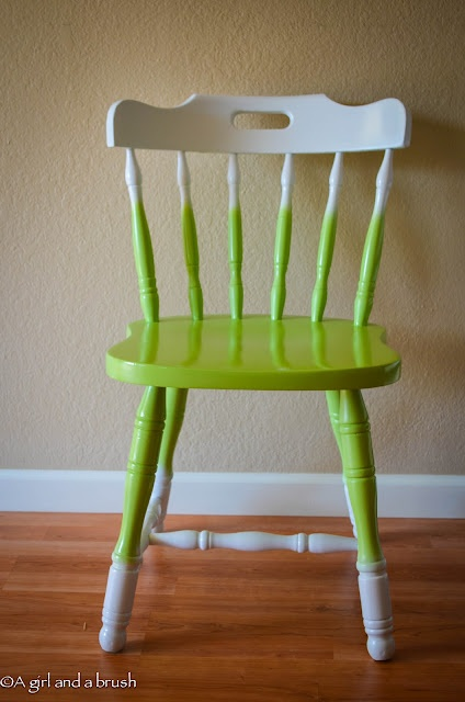 diy painted chair idea for my ugly kitchen chairs