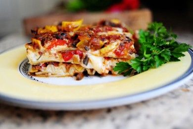 Лазанья с овощами и сыром