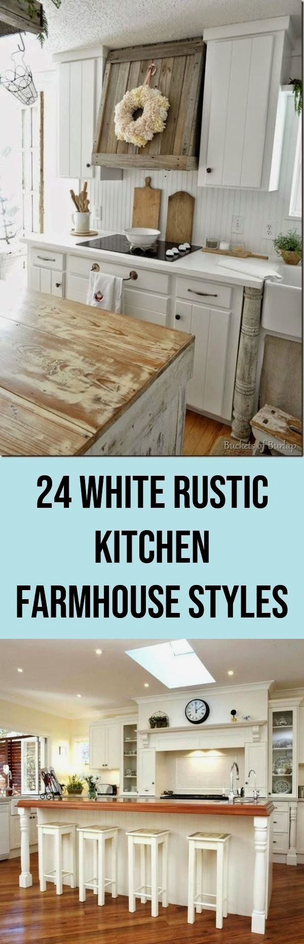 Perfect white rustic kitchen farmhouse style. Light Fixtures 24 ...