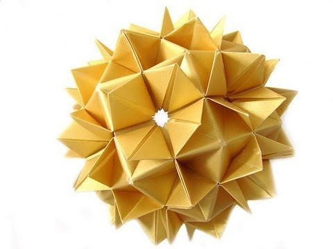 Origami Spike Ball (Cuboctahedron) (HD) - YouTube