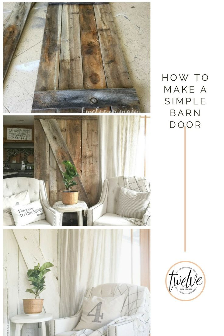 How to make a simple barn door the o 39 jays doors and for How to draw a barn easy
