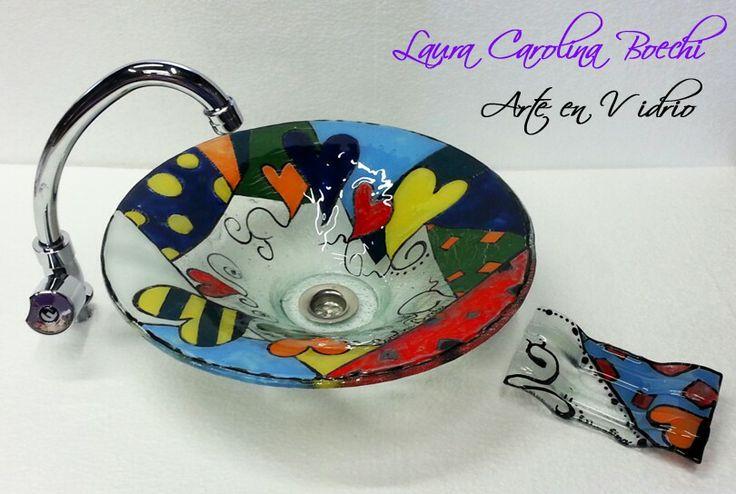 Bachas Para Baño Mendoza:Bacha de 40cm de diámetro con jabonera haciendo juego