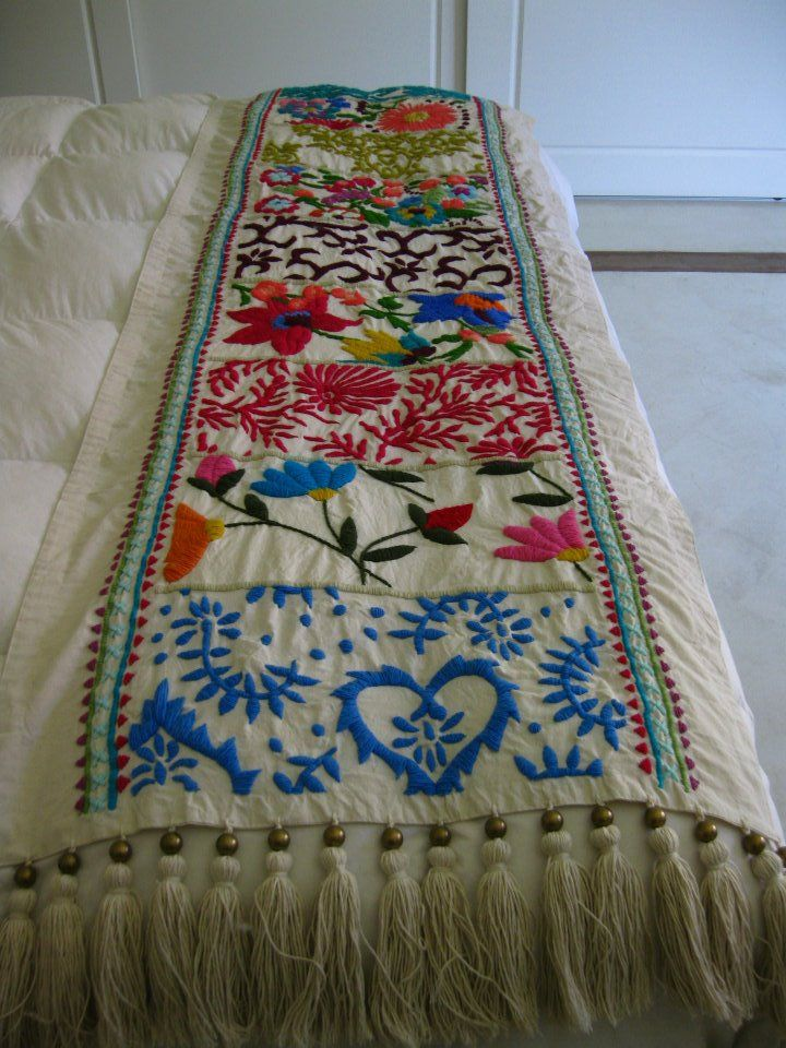 48 karam hecho a mano mexican decoration pinterest Mexican embroidered bedding