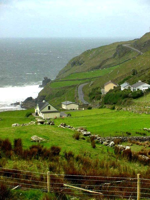 """A beautiful drive is the """"Coast Road"""" (off the R263) west of Killybegs, County Donegal"""