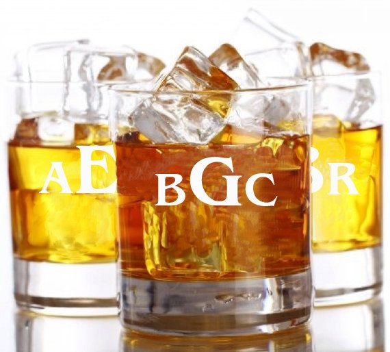 6 Whiskey Glasses Rocks Glass Engraved by EverythingDecorated