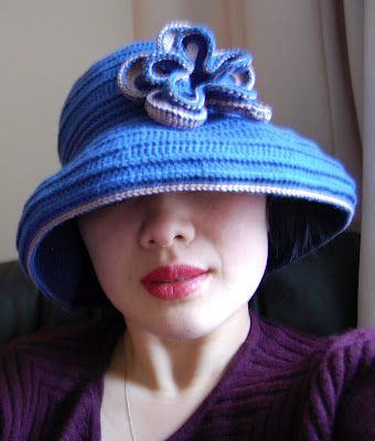 """Free pattern for """"Wide-brimmed Crochet Sun Hat"""" from  Keeping Mama Sanchez busy!"""