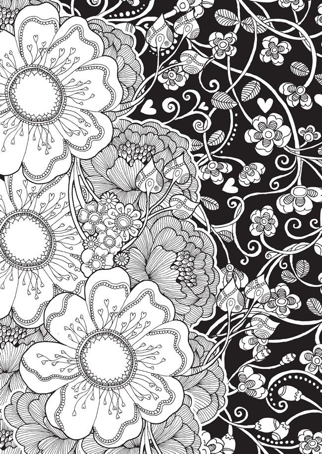 Coloring Pages Of Flowers Games : 2496 best paper toys coloring games images on pinterest