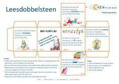 Leesdobbelsteen voor kinderen vanaf 7 jaar. Zo maak je lezen leuk! Van ZIEN in de Klas! #dobbelsteen #lezen #dyslexie #kinderboekenweek #zienindeklas #leesdobbelsteen