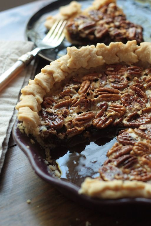 How To Make Perfect Pie Crust  in a food processor, featuring a snazzy Nutella Pecan Pie