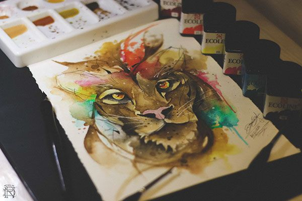 LION WATERCOLOR TATTOO on Behance