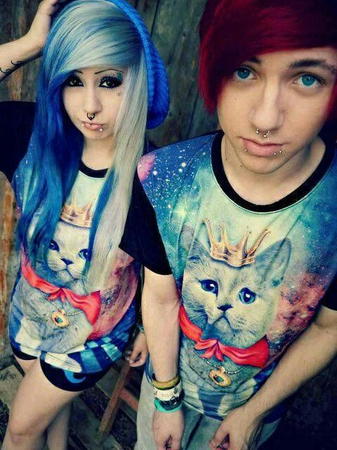 emo girl and boy