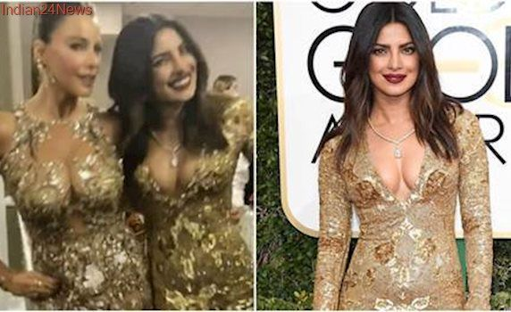 Golden Globes: Priyanka Chopra twins and twirls with Sofia Vergara, leaves Dwayne Johnson in love. See pics, videos