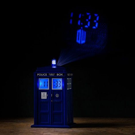 Réveil Projection Tardis Doctor Who