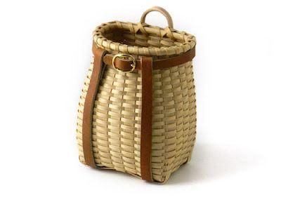 JoAnn Kelly Catsos - Miniature Berkshire Backpack Basket - how stinkin' cute is that?