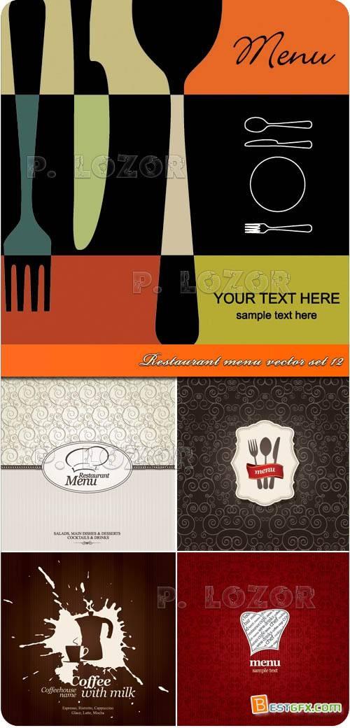 Restaurant menu vector set 12