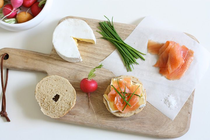 Fresh Bagels with King Island Triple Cream Brie and Huon Smoked Salmon | Island Menu