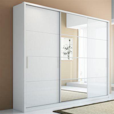Manhattan Comfort 976 Bellevue 3-Door Wardrobe