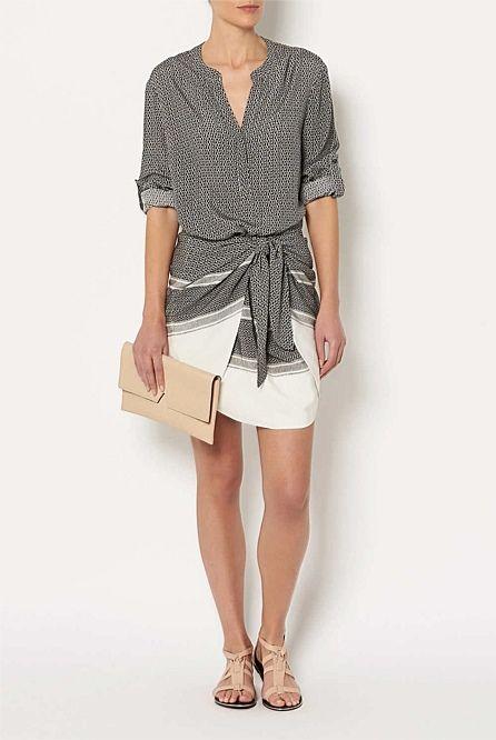 Shop Women's Clothing Australia - Witchery Online - Tie Shirt Dress
