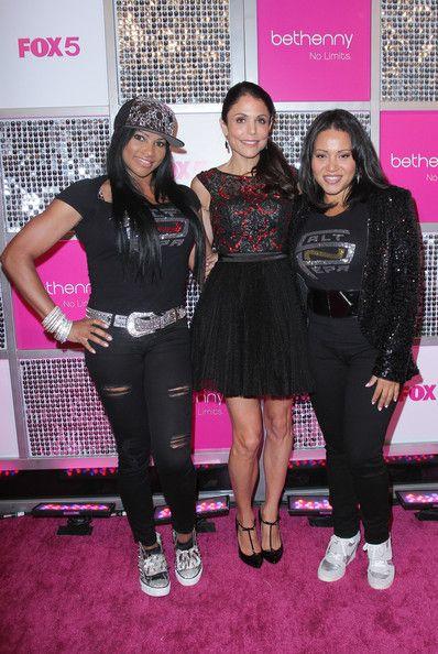 """Salt 'N' Pepa"" members  Cheryl James and Sandra Denton with Bethenny Frankel"