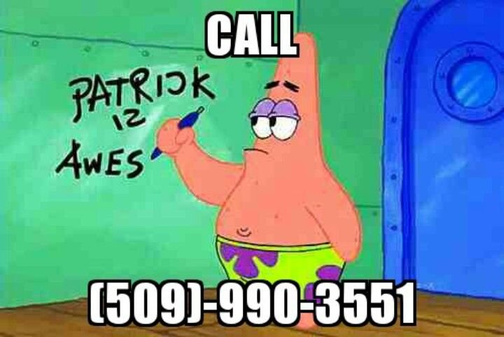 "Call this number asking ""Is this the Krusty Krab?""... You won't be sorry you did!"