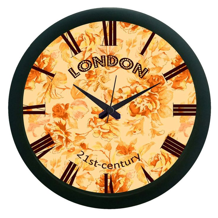 London Brown Wall Clock (With Glass)