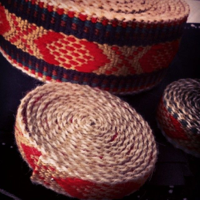 Hand woven trims for vestfold bunad