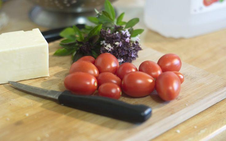 Garden Fresh Juliette Tomatoes and Basil
