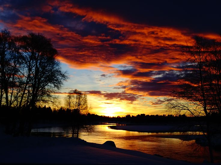 sunset in lappland