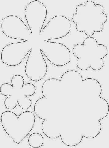 Blog da Gy Farias: Molde de flores