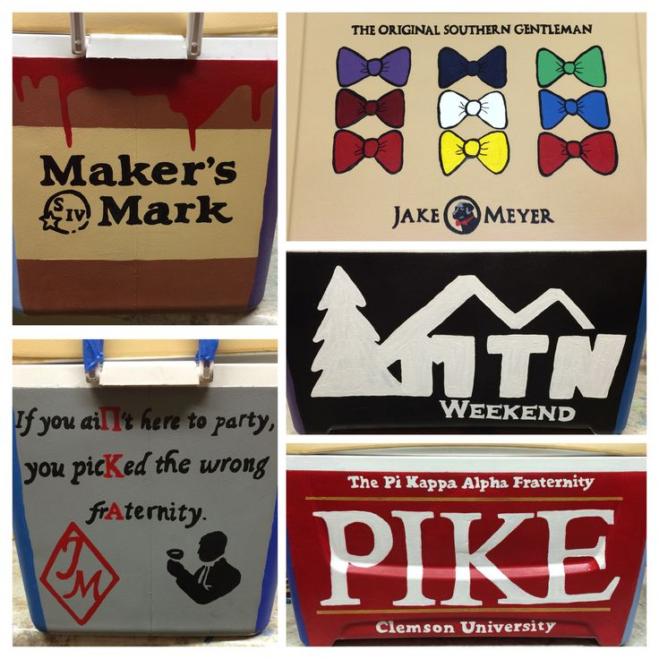 Pike mountain weekend, fraternity cooler, pi kappa alpha, frat