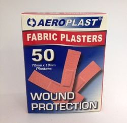 Fabric Standard Strips Pack 50 Sterile and Hypoallergenic