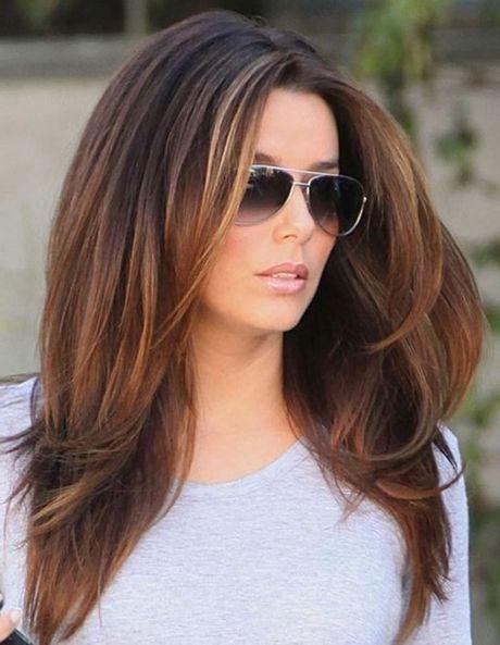 Moderne Lange Haarschnitte Ombre Haarfarben Damenfrisuren