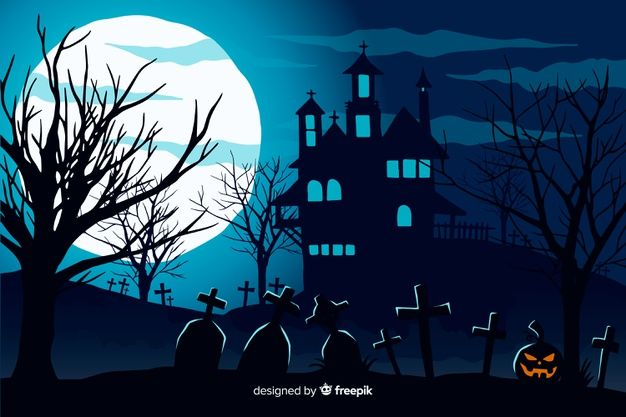 Download Hand Drawn Halloween Background With Haunted ...