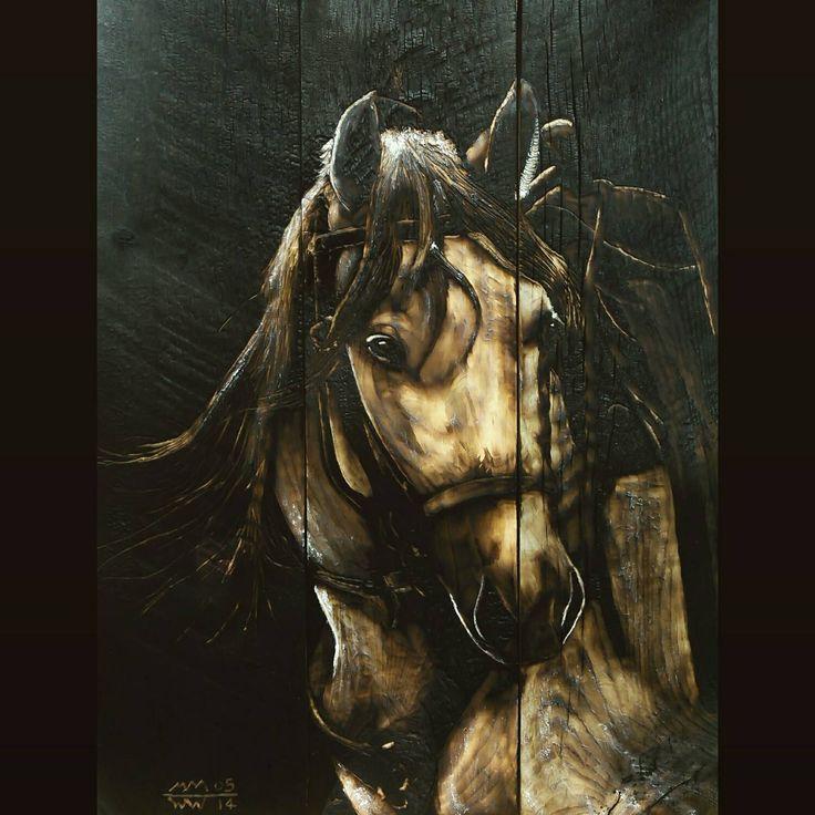 Western Decor, Custom Equine / Horse Art - cabin, rustic, prairie, ranch, mountain, log home, hunting lodge, southwestern art by woodZwayz on Etsy