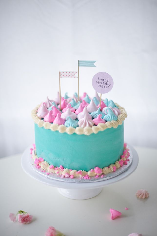 Pastel coloured cake of dreams <3