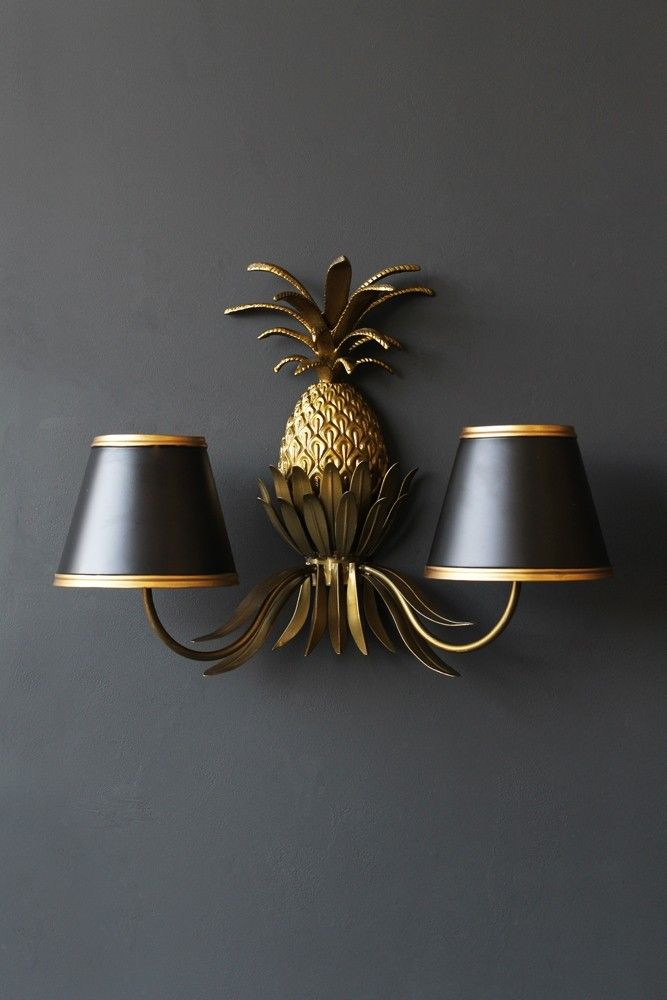 Gold pineapple wall light from rockett st george