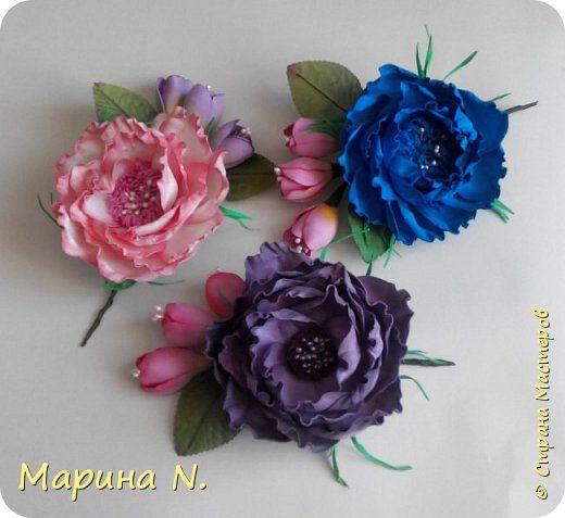 Флористика искусственная Цветы из фоамирана Фоамиран фом фото 1