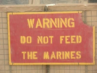 Do Not Feed The Marines | Click to view fullscreen