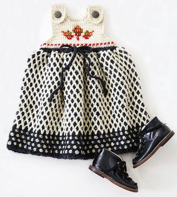 Dress Her Up: Garden Lattice Jumper - Yarnspirations Blog