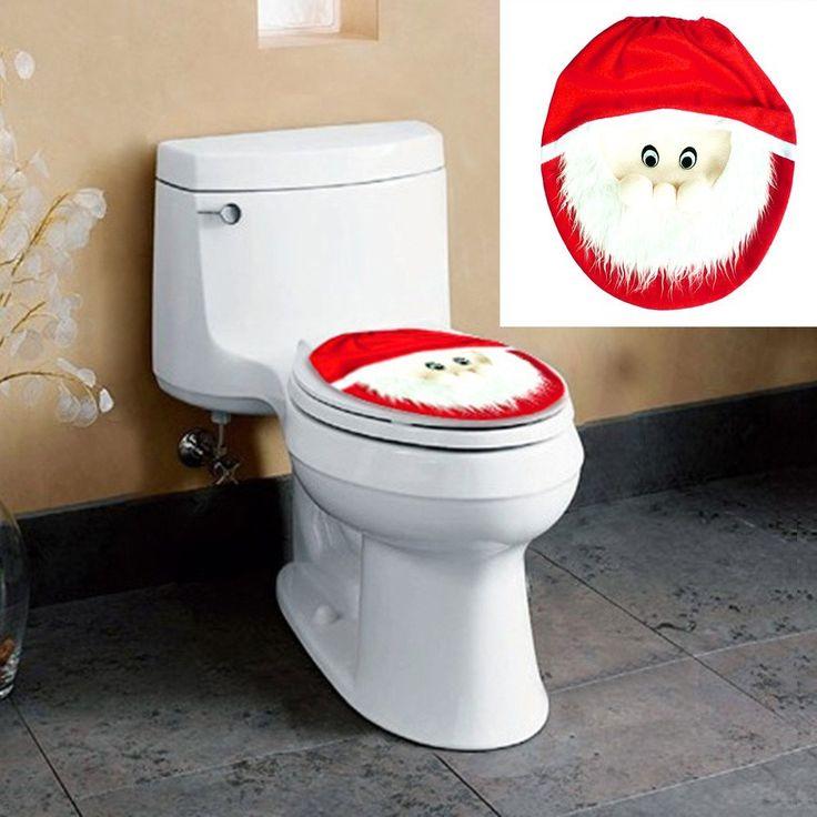 Xmas Decoration Santa Claus Toilet Lid Cover Case OrnamentsXmas DecorationsToiletsCasesChristmas